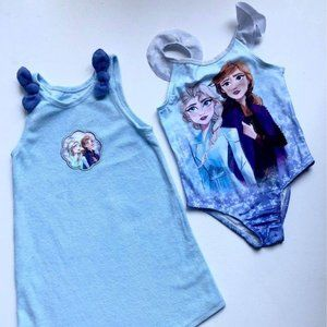 Brand New Licensed Frozen Beach Dress and Swimsuit